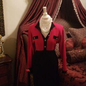 St. John Collection Vintage Knit Dress